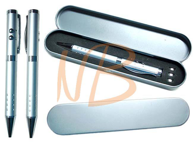 Estojo e caneta em metal