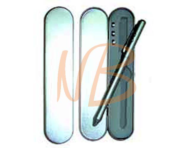 Estojo e caneta em metal com laser