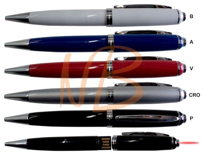 Caneta Pen Drive metal com laser