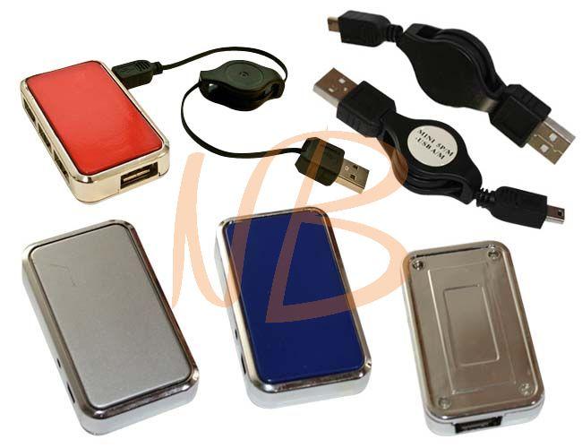 Hub USB 04 entradas e cabo MINI 5P-M