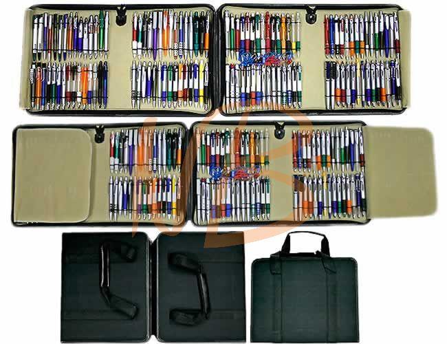 Mostruário de canetas plásticas