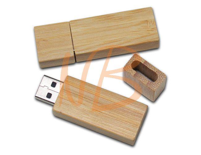Pen drive de 4 Gb bambu